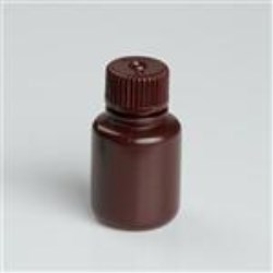 30 ml HDPE Boston Round, Round, 20-415, W/Amber Cap Attached ,