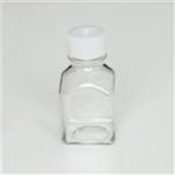 60 ml PETG Straight Sided, Square, 24-415, Sterile W/Cap Attached ,