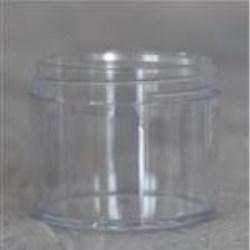 2 oz P/S Jar, Round, 58-400, Heavy Wall Straight Sided