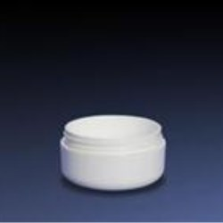 2 oz SAN Outer P/P Inner Jar, White In Round, 70-400, Round Base Low Profile
