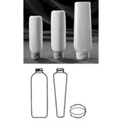 90 ml HDPE Tottle/Tube Bottle, Oval, 22-400, ,