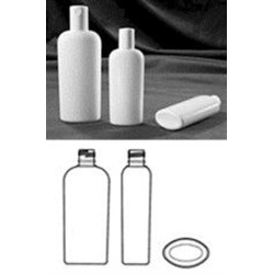 4 oz HDPE Reverse Tapered, Oval, 20-415, ,