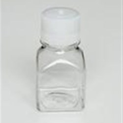 125 ml PETG Straight Sided, Square, 38-430, Non-Sterile W/Cap Attached ,