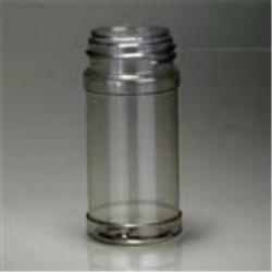 4 oz PVC Jar, Round, 43-485, Round Base