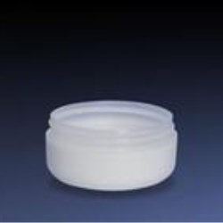 4 oz SAN Out P/P Inch Jar, Clear Out Round, 89-400, Low Profile Round Base