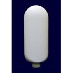 6 oz HDPE Tottle/Tube Bottle, Oval, 22-400, Flamed