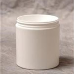 6 oz P/P Double Wall Jar, Square, 70-400, Straight Base Straight Sided