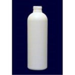 8 oz HDPE Bullet, Round, 24-410, Flamed ,