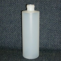 8 oz HDPE Cylinder, Round, 24-410, Straight Sided
