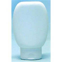 8 oz HDPE Tottle/Tube Bottle, Oval, 24mm Snap On ,