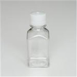 250 ml PETG Straight Sided, Square, 38-430, Non-Sterile W/Cap Attached ,