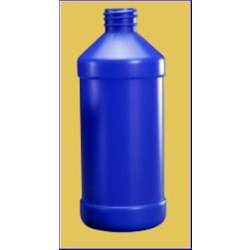 16 oz HDPE Modern Rd, Round, 28-410, Flamed