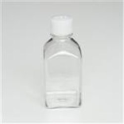 500 ml PETG Straight Sided, Square, 38-430, Non-Sterile W/Cap Attached ,