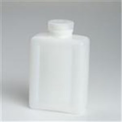 500 ml HDPE Straight Sided, Oblong, 48-415, W/ Cap Attached ,