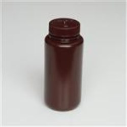 500 ml LDPE Cylinder, Round, 53-415, W/ Cap Attached ,