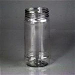 16 oz PET Jar, Round, 63-400, Label Indent