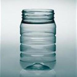 16 oz PET Jar, Round, 70-470, Ribbed ,