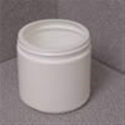 16 oz HDPE Jar, Round, 89-400, Straight Sided