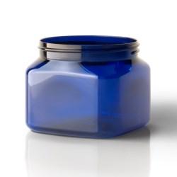 16 oz PET Jar, Square, 89-400, ,