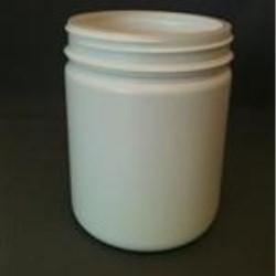 565 cc HDPE Jar, Round, 89Pano, Heavy Weight