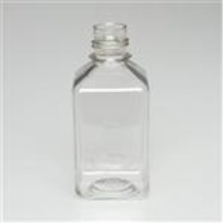 650 ml PET Straight Sided, Square, 38-430, Sterile W/Cap Attached ,