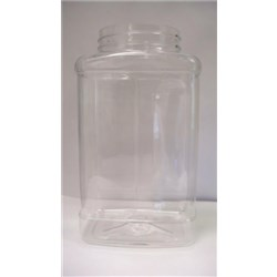 22 oz PET Jar, Square, 63-400,