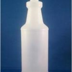 32 oz HDPE Carafe/Decanter, Round, 28-400, Ribbed/Fluted Label Indent