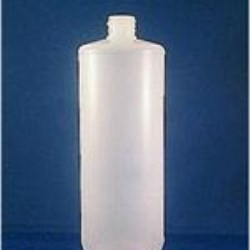 32 oz HDPE Cylinder, Round, 38-400, Label Indent