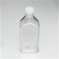 1000 ml PETG Straight Sided, Square, 38-430, Non-Sterile W/Cap Attached ,