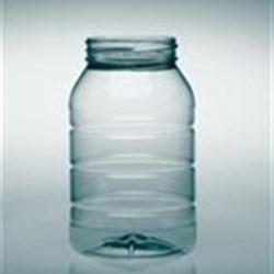 32 oz PET Jar, Round, 70-470, Ribbed