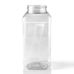 32 oz PET Jar, Square, 63mm, Label Indent Grip