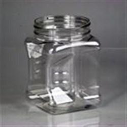 32 oz PET Jar, Square, 89-400,