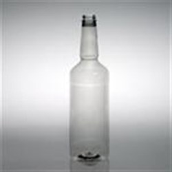 1 ltr PET Long Neck, Round, 28-400, Label Indent ,