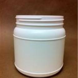 1000 cc HDPE Jar, Round, 110-400, Label Indent