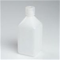 1000 ml P/P Straight Sided, Square, 38-430, Graduated W/ Cap Attached ,