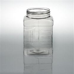 48 oz PET Jar, Square, 89-400, Grip