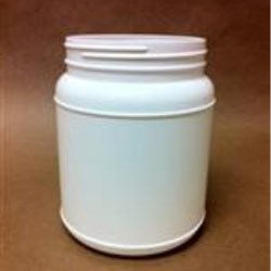 1500 cc HDPE Jar, Round, 110-400, Label Indent