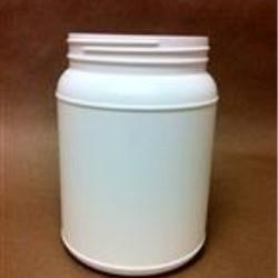 2000 cc HDPE Jar, Round, 110-400, Label Indent