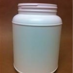 2500 cc HDPE Jar, Round, 110-400, Label Indent