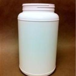 3000 cc HDPE Jar, Round, 110-400, Label Indent