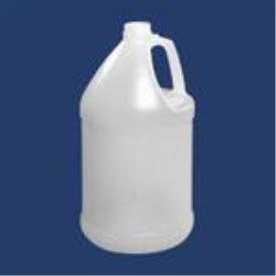1 gal HDPE Handleware, Round, 38-400Nbo, Label Indent ,