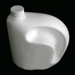 128 oz HDPE Asymmetrical, Oval, 38-400, Offset Neck Grip ,