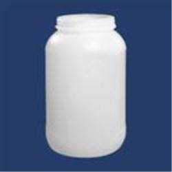 1 gal HDPE Jar, Round, 89-400, Label Indent