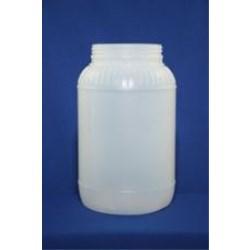 1 gal HDPE Jar, Round, 110-400, Label Indent