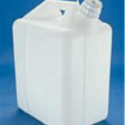 5 gal HDPE Handleware, Oblong, 53, W/Cap Attached ,
