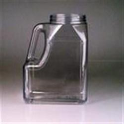 160 oz PVC Handleware, Oblong, 110-400, Offset Neck Label Indent