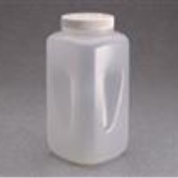 4 ltr P/P Jar, Square, 100-415, Grip W/White Cap Attached ,