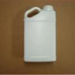 5 qt HDPE Handleware, Oblong, 63mm, Slant Handle Fluorinated L.3