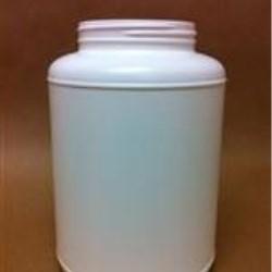 4000 cc HDPE Jar, Round, 110-400, Label Indent