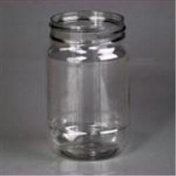 16 oz PET Jar, Round, 70-400, Round Base